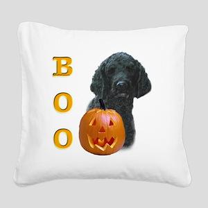 PoodleblackBoo2 Square Canvas Pillow