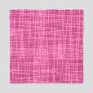 Pink Crosshatch Queen Duvet