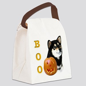 ShibablackBoo2 Canvas Lunch Bag