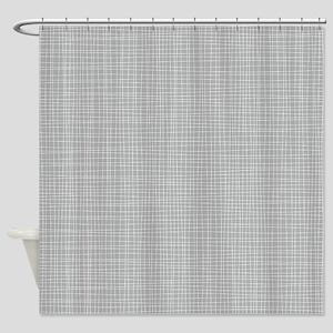 Grey Crosshatch Shower Curtain