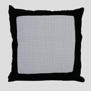 Grey Crosshatch Throw Pillow