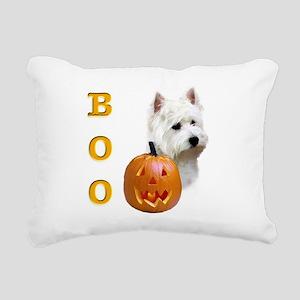 WestHighlandBoo2 Rectangular Canvas Pillow