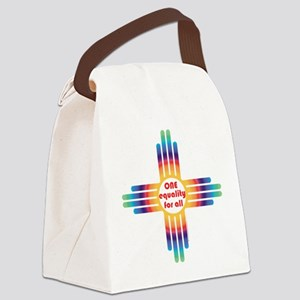New Mexico one equality Canvas Lunch Bag