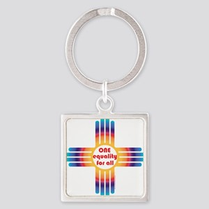 New Mexico one equality Keychains