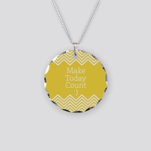 Make Today Count Yellow Necklace