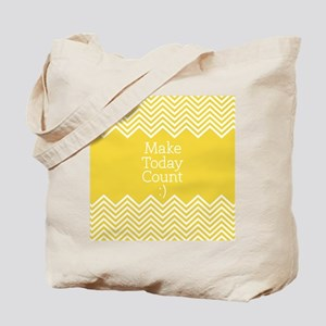 Make Today Count Yellow Tote Bag