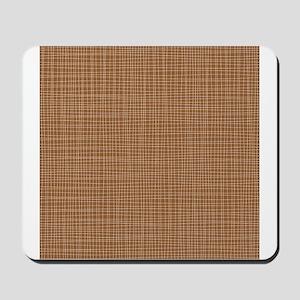 Brown Crosshatch Mousepad