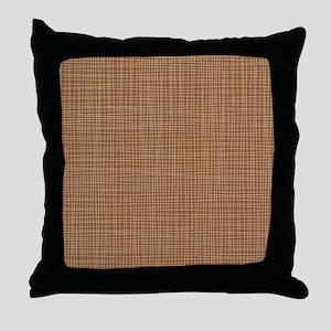 Brown Crosshatch Throw Pillow