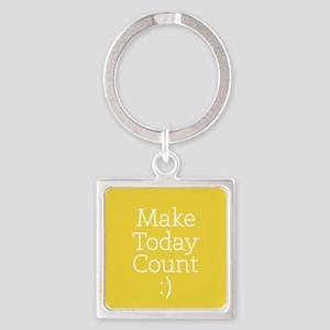 Make Today Count Yellow Keychains
