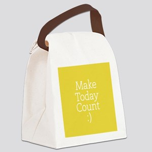 Make Today Count Yellow Canvas Lunch Bag