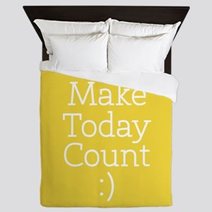 Make Today Count Yellow Queen Duvet