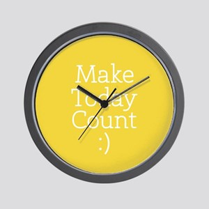 Make Today Count Yellow Wall Clock