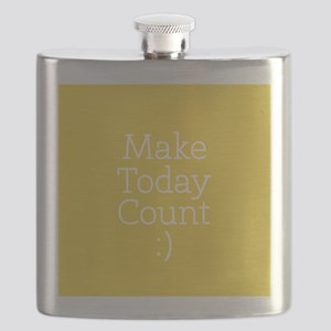 Make Today Count Yellow Flask