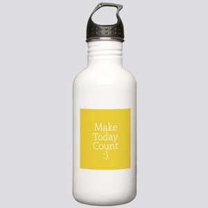 Make Today Count Yellow Water Bottle