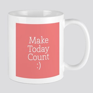 Make Today Count Coral Mugs