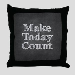 Chalkboard with Mot... Throw Pillow