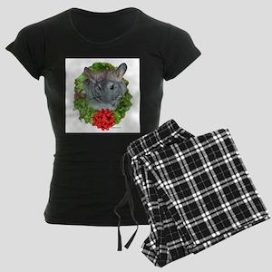 Chinchilla Wreath Women's Dark Pajamas