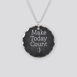 Chalkboard Make Today Count Necklace