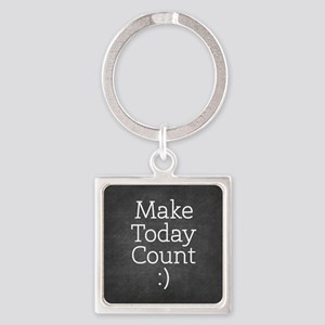 Chalkboard Make Today Count Keychains