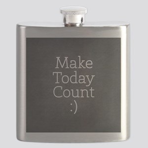 Chalkboard Make Today Count Flask