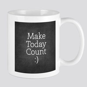 Chalkboard Make Today Count Mugs