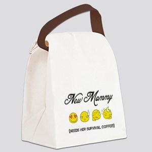 New Mommy (needs her survival cof Canvas Lunch Bag
