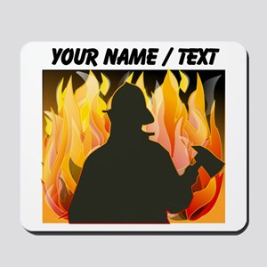 Custom Silhouetted Firefighter Mousepad