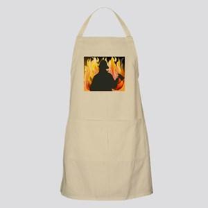 Silhouetted Firefighter Apron