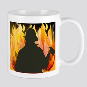 Silhouetted Firefighter Mugs
