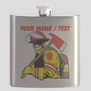 Custom Fireman Flask