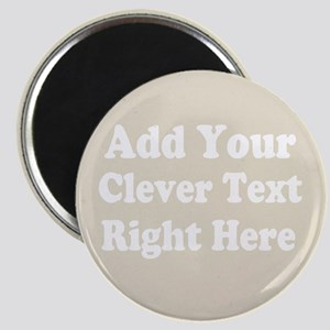 Add Text Background Gray Magnets