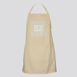 Add Text Background Gray Apron