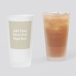 Add Text Background Gray Drinking Glass