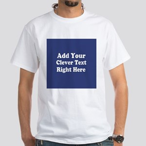 Add Text Background Blue T-Shirt