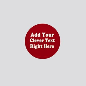 Add Text Background Red White Mini Button