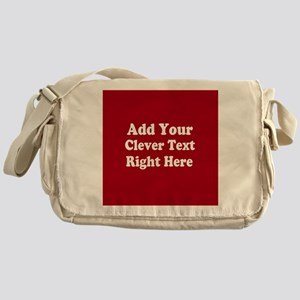 Add Text Background Red White Messenger Bag
