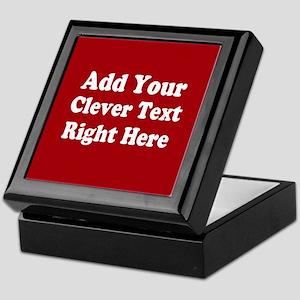 Add Text Background Red White Keepsake Box