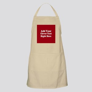 Add Text Background Red White Apron