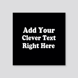 Add Text Background Black White Sticker