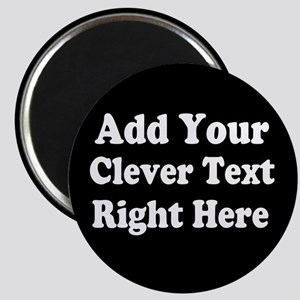 Add Text Background Black White Magnets