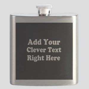 Add Text Background Black White Flask