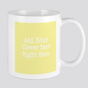 Add Text Background Lemon Yellow Mugs
