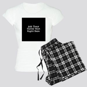 Add Text Background Black Pajamas