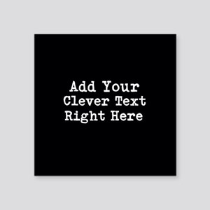 Add Text Background Black Sticker