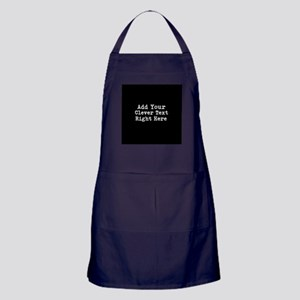 Add Text Background Black Apron (dark)