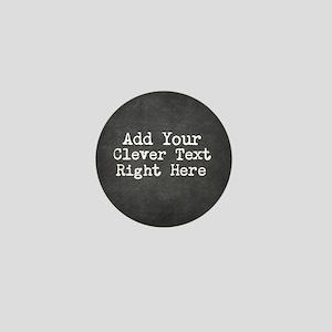 Chalkboard template Mini Button