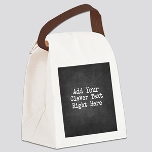 Chalkboard template Canvas Lunch Bag