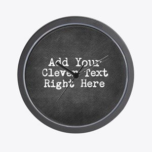 Chalkboard template Wall Clock