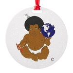 BLANKET BABY Round Ornament