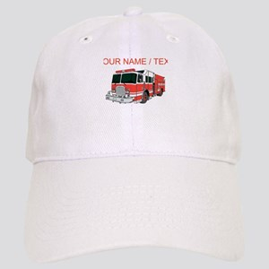 Custom Red Fire Truck Cap